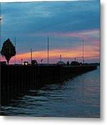 Jackson Street Pier - Sunset Metal Print