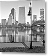 Jacksonville Black And White Ay Metal Print