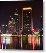 Jacksonville Night Metal Print