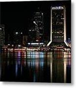 Jacksonville Skyline At Night Metal Print by Georgia Fowler