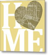 Jacksonville Street Map Home Heart - Jacksonville Florida Road M Metal Print