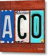Jacob License Plate Name Sign Fun Kid Room Decor. Metal Print
