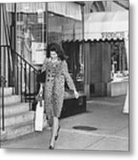 Jacqueline Kennedy In Leopard Print Metal Print by Retro Images Archive