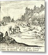 Jacques Callot French, 1592 - 1635. The Crucifixion Le Metal Print
