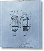 Jacques Cousteau Diving Suit Patent Metal Print