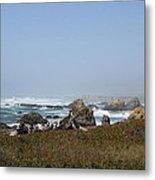 Jagged California Coastline Metal Print
