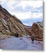 Jagged Edges On Canyon Walls In Golden Canyon Trail In Death Valley National Park-california  Metal Print