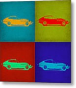 Jaguar E Type Pop Art 1 Metal Print by Naxart Studio