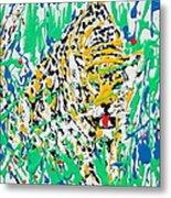 Jaguar - Enamels Painting Metal Print