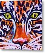 Jaguar Eyes-  Metal Print