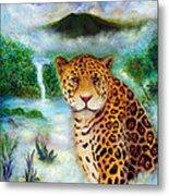 Jaguar In The Mist Metal Print