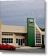 Jaguar Land Rover At Dusk Metal Print