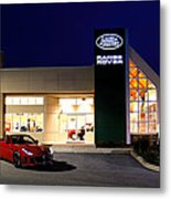 Jaguar Land Rover Harrisburg At Dark Metal Print