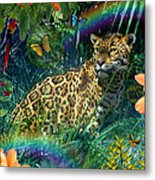 Jaguar Meadow  Variant 1 Metal Print