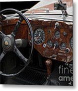 Jaguar Odtimer Steering Wheel Metal Print