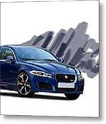 Jaguar Xe Rs Metal Print