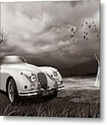 Jaguar Xk150 - Admiring The View Metal Print