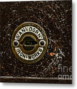 Jail Cell Door Lock Close Up Metal Print
