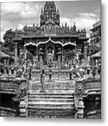 Jain Temple Monochrome Metal Print