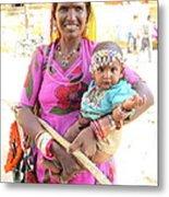 Jaisalmer Mother Daughter Metal Print