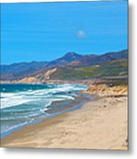 Jalama Beach Santa Barbara County California Metal Print
