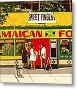 Jamaican Food Metal Print