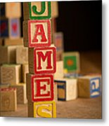 James - Alphabet Blocks Metal Print
