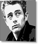 James Dean In Black And White Metal Print