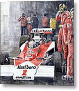 James Hunt Monaco Gp 1977 Mclaren M23 Metal Print