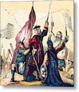 James IIi Lands In Scotland, 1715 Metal Print