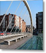 James Joyce Bridge In Dublin Metal Print
