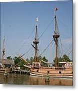 Jamestown Historic Sailingships Metal Print