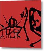 Jammin Jazz On Red Metal Print