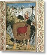 Jamnapattra Of The Prince Of Lahore Metal Print by Everett