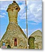 Jandarma Or Police Station In A Fairy Chimney In Cappadocia-turkey  Metal Print
