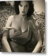 Jane Russell In The Outlaw Metal Print