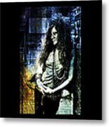 Janis Joplin - Blue Metal Print