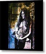 Janis Joplin - Gold Metal Print