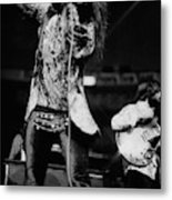 Janis Joplin On Stage Metal Print