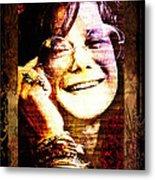 Janis Joplin - Upclose Metal Print