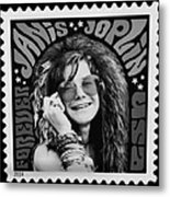 Janis Stamp In A Black And White Vibe Metal Print