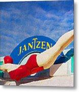 Jantzen Diver Metal Print