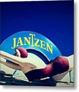 Jantzen Girl Metal Print by Gail Lawnicki