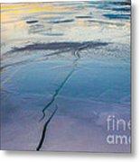 January Sunset On A Frozen Lake Metal Print
