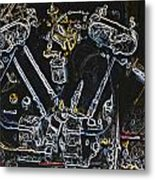 Jap Motorcycle Engine Digital Art Metal Print