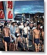 Japan At The Beach  Metal Print