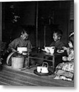 Japan Tea Party Metal Print