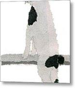 Japanese Bobtail Cat Hand-torn Newspaper Collage Art Pet Portrait Metal Print