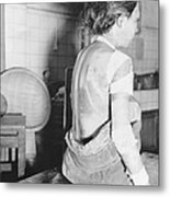 Japanese Female Victim Of Atom Bomb Metal Print