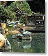 Japanese Garden At Sundown Metal Print